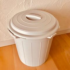一目惚れ/お気に入り/シンプル/白/オシャレ/キッチン/... 今日、getしたゴミ箱★ キッチン用です…