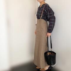 サスツキスカート/ママコーデ/ファッション サスツキスカートを使ったコーデ♩秋らしい…