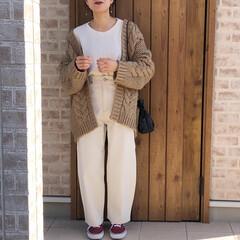 ホワイトコーデ/ママコーデ/ファッション 最近で一番お気に入りのコーデ♡  ホワイ…