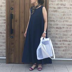 リネン/スカーフ/レオパード/ファッション リネンのワンピース♡ふんわりボリュームが…