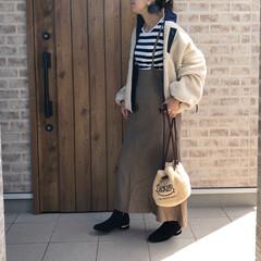 ママコーデ/ボアジャケット/ファッション pageboy  さんのボアジャケットが…