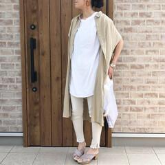 ユニクロ/ママコーデ/ファッション UNIQLOさんの リネンブレンドロング…