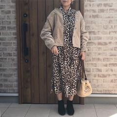 コーデュロイ/レオパード/ファッション LIPSTARさんのレオパードシャツワン…