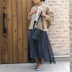 ママコーデ/スパンコール/チュールスカート/コーデュロイ/ファッション SENSE OF PLACEさんの、コー…