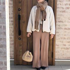 リブニット/ママコーデ/ファッション 忘れていた冬コーデ💦春になる前に。 リブ…