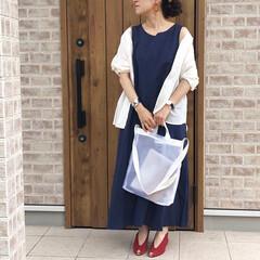ママコーデ/リネン/リネンワンピース/ファッション リネン素材のワンピース着回しです🎶 長袖…