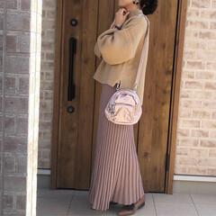 ママコーデ/ベージュコーデ/ファッション 比較的暖かいお正月🎍  スカートもはけち…