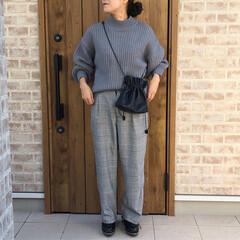 ニット/グレンチェック/ファッション グレンチェックのパンツは、何年もはいてる…