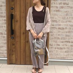 DHOLIC/ママコーデ/プリーツパンツ/おしゃれ/夏ファッション 安定のブラウン×ベージュコーデ🎶  DH…