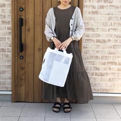 GU/ママコーデ/ファッション GUさんのティアードワンピース♡が可愛い…