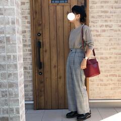 ベレー帽/ママコーデ/マニッシュシューズ/ファッション この秋たくさん履きたい厚底マニッシュシュ…(1枚目)