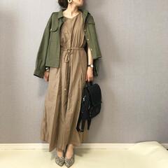 夏コーデ/ワンピース/ママコーデ/ファッション/おしゃれ 夏はワンピースが涼しくて好き♡  リネン…