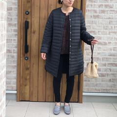 冬コーデ/コート/ファッション 今年仲間入りしたコート♡  薄手のダウン…