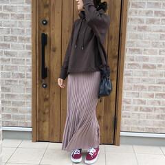 ママコーデ/パーカー/ファッション ブラウンのパーカー♡カラーをブラウンにす…