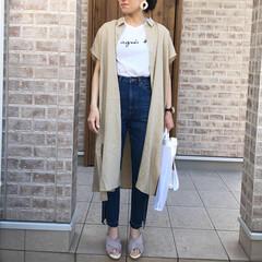 リネン/ユニクロ/ファッション 去年からお気に入りの、agnes bさん…