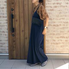 ママコーデ/サロペット/レーストップス/ファッション 秋らしいカラーの、LIPSTAR さんの…(1枚目)
