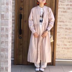 シャツワンピース/ファッション/ママコーデ/おしゃれ/最近のコーデ ボリューム感が可愛いすぎるシャツワンピー…