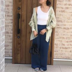 ミントグリーン/シアーシャツ/ファッション この春トレンド🎶 #シアーシャツ #ミン…