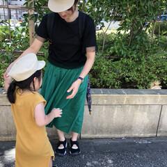 カラースカート/プチプラ/キャスケット/親子ーデ/ファッション 夏のファッションアイテム2018♡  こ…