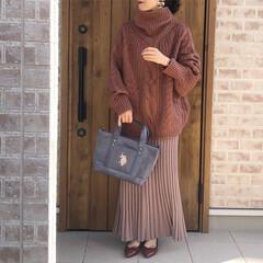 ケーブルニット/ママコーデ/ファッション titivateさんのケーブルニットは、…(1枚目)