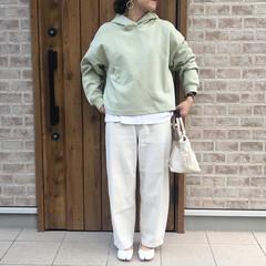 ミントグリーン/春コーデ/ファッション ホワイト×ミントグリーンで春コーデ🎶  …