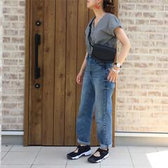 足袋シューズ/ギンガムチェック/ハイウエストストレートジーンズ/エアリフト/NIKE/ファッション LIPSTAR  さんのギンガムチェック…