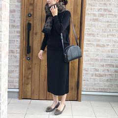 ママコーデ/ニットアップ/レオパードアイテム/ファッション きれい目コーデ♡  ナノユニバースさんの…