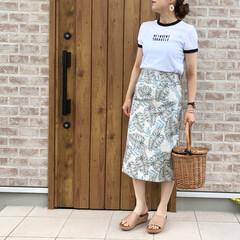 ママコーデ/リンガーTシャツ/ZARA/ファッション ZARA のリンガーTシャツ着回しきくし…