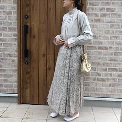 花柄スカート/ママコーデ/ファッション お気に入りブラウスのスカート合わせバージ…