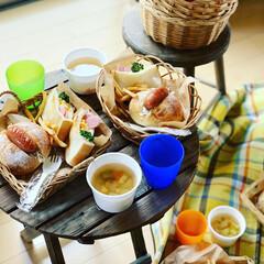 ステイホーム/ピクニック気分/おうちピクニック/お昼ごはん/おうち時間/キッチン雑貨/... おうちピクニック(๑´▿︎`๑)♫︎*.…(3枚目)