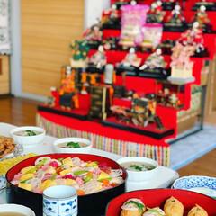 蓮蒸し/いなり寿司/ちらし寿司/お昼/ひな祭り/LIMIAごはんクラブ/... お雛パーティー🎎