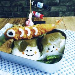 端午の節句/柏餅/簡単弁当/こどもの日弁当/フード/グルメ/... 『柏ちゃん おにぎり』