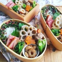 お弁当/フード/キッチン/お昼ごはん/秋盛り弁当 秋の味覚満載🥕🍠秋べんとう