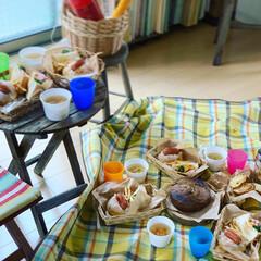 ステイホーム/ピクニック気分/おうちピクニック/お昼ごはん/おうち時間/キッチン雑貨/... おうちピクニック(๑´▿︎`๑)♫︎*.…(4枚目)