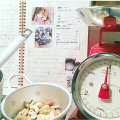 スコーン/クッキー🍪/計り/レシピノート/キッチン雑貨/キッチン 我が家の常備食🍪🥜 スコーンとクッキー作…
