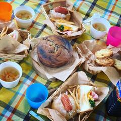ステイホーム/ピクニック気分/おうちピクニック/お昼ごはん/おうち時間/キッチン雑貨/... おうちピクニック(๑´▿︎`๑)♫︎*.…(2枚目)