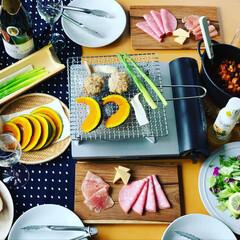 春フォト100枚チャレンジ/スパークリングワイン/晩酌/焼き野菜/夜ご飯/夜ごはん/... 野菜尽くし🥬🥦🍅🥒🥕