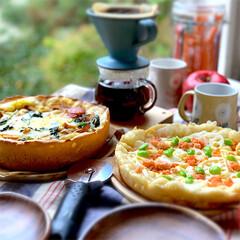 フライパン料理/フライパンピザ/ピザ/グルメ/フード/おうちごはん/... フライパンピザ🍕