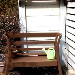 家具リメイク/DIY/家具/リフォーム 古い食卓椅子2つとテレビ台を分解した板で…