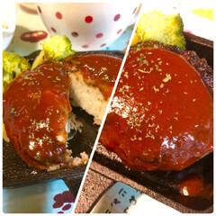 おうちごはん/ハンバーグ/美味しい/マッシュポテト/ふわふわ/ボリューミー マッシュポテト入りハンバーグ!    め…