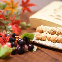 お茶菓子/リラックス/団らん/おやつ/食卓/もみじ/... お土産にいただいたおだんご。 きな粉が大…