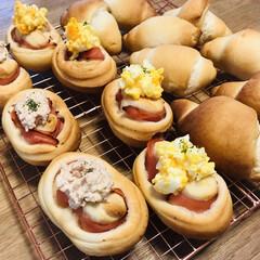 お家ご飯🏠/手作りパン 久々にパンを焼いたよ〜! 美味しいと子供…