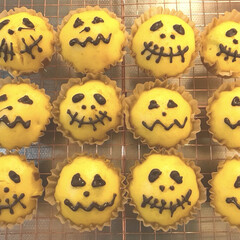 ハロウィン ハロウィン🎃子供にかぼちゃの蒸しパン作っ…