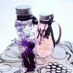 フラワー/雑貨/暮らし  桜色とパープルのハーバリウム