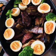 ごはん スペアリブの甘辛煮&煮卵 ホーロー鍋でコ…