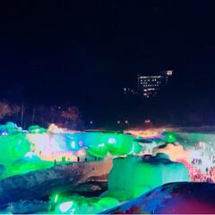 温泉/氷瀑まつり/おでかけワンショット 大好きな友人達と 層雲峡で遅めの新年会。…
