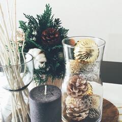 テーブルコーディネート/ヒバ/クリスマス/クリスマスツリー/ハンドメイド/インテリア/... IKEAの雑貨を使ってダイニングテーブル…