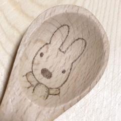 焼き絵/焦がし絵/バーニングアート/wood burning/ウッドバーニング/木製スプーン/... 木のスプーンに お絵描き