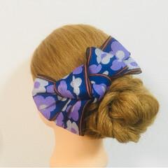 髪飾り/京都/花火大会/お祭り/着物/浴衣/... 夏祭りや花火大会に浴衣を着て、髪飾りでワ…(2枚目)