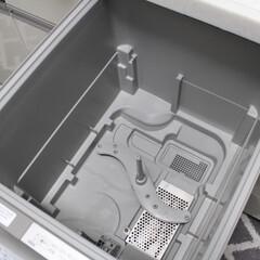 暮らし/シンプルな暮らし/キッチン/オキシクリーン/食洗機/住まい/... 久々に食洗機をオキシクリーンで洗ってピカ…